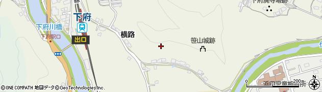 島根県浜田市下府町(横路)周辺の地図