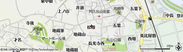 愛知県知多郡阿久比町阿久比松畑周辺の地図