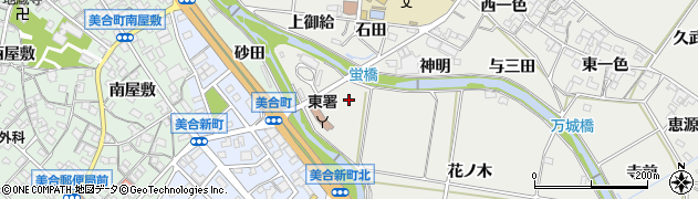 愛知県岡崎市岡町(下河原)周辺の地図