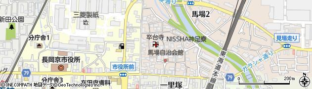 卒台寺周辺の地図