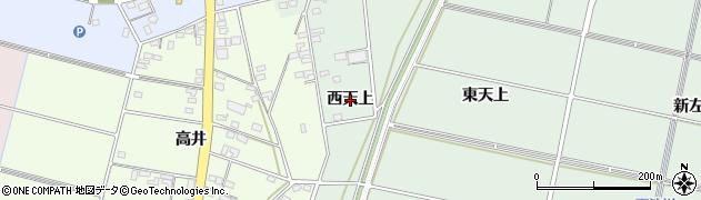 愛知県安城市桜井町(西天上)周辺の地図