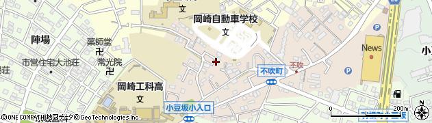 愛知県岡崎市不吹町周辺の地図