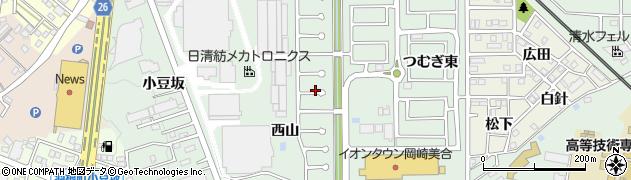 愛知県岡崎市美合町(つむぎ西)周辺の地図