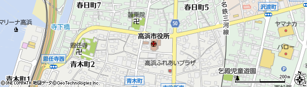 愛知県高浜市周辺の地図