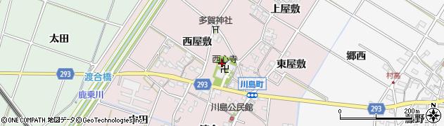 愛知県安城市川島町周辺の地図