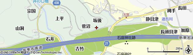 愛知県新城市牛倉(坂後)周辺の地図