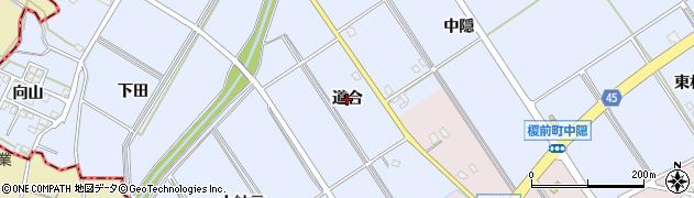 愛知県安城市榎前町(道合)周辺の地図