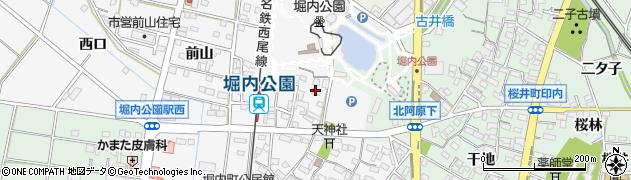 愛知県安城市堀内町(羽開道)周辺の地図