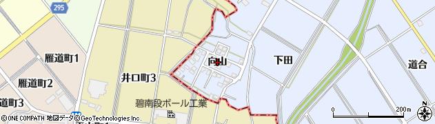 愛知県安城市榎前町(向山)周辺の地図