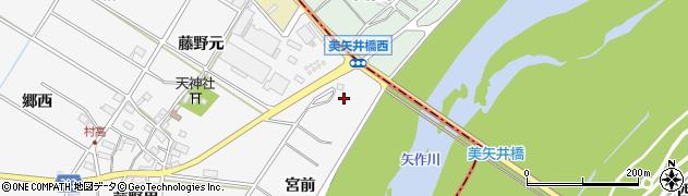 愛知県安城市村高町(堤)周辺の地図