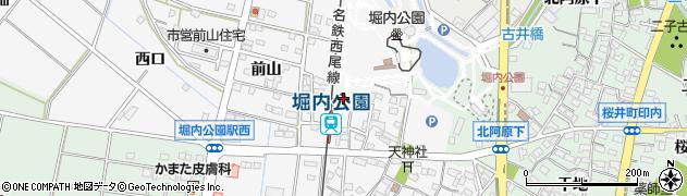 愛知県安城市堀内町(安下)周辺の地図
