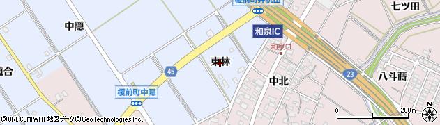 愛知県安城市榎前町(東林)周辺の地図