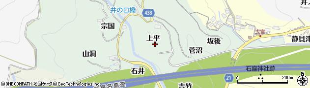 愛知県新城市牛倉周辺の地図