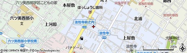 愛知県岡崎市法性寺町(柳之内)周辺の地図