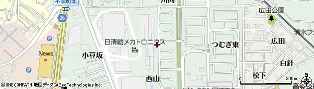 愛知県岡崎市美合町(中田)周辺の地図