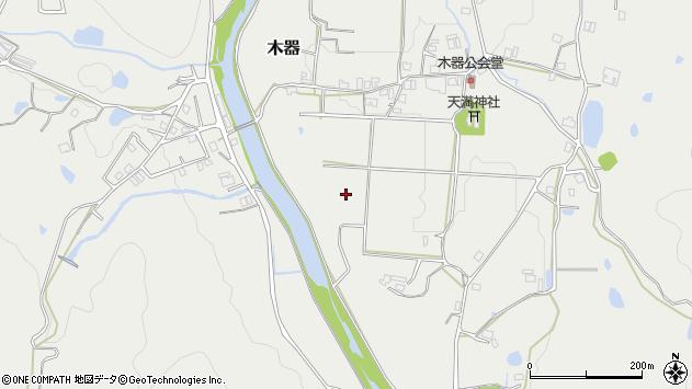 〒669-1412 兵庫県三田市木器の地図