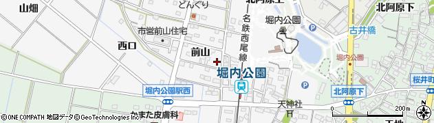 愛知県安城市堀内町周辺の地図