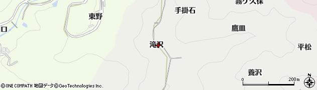 愛知県岡崎市樫山町(滝沢)周辺の地図