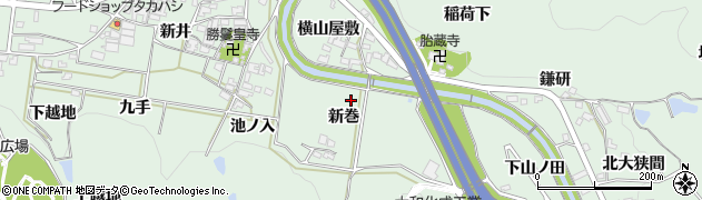 愛知県岡崎市保母町(新巻)周辺の地図