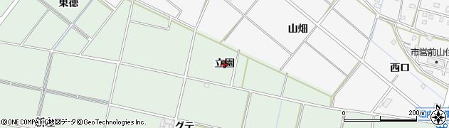 愛知県安城市桜井町(立園)周辺の地図
