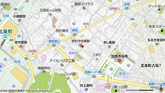 〒675-2311 兵庫県加西市北条町横尾の地図