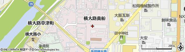 京都府京都市伏見区横大路貴船周辺の地図