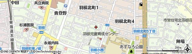 愛知県岡崎市羽根町(池脇)周辺の地図