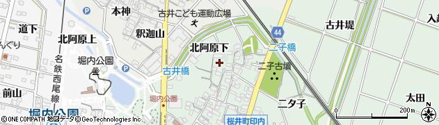 愛知県安城市桜井町(印内北分)周辺の地図