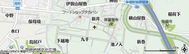 愛知県岡崎市保母町(新井)周辺の地図