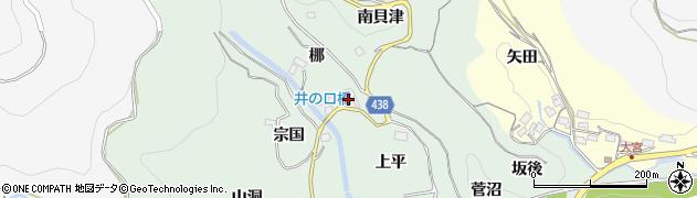 愛知県新城市牛倉(梛)周辺の地図