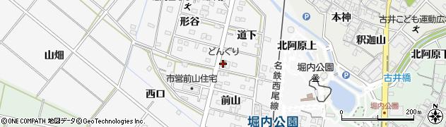 どんぐり本店周辺の地図