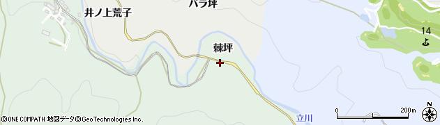 愛知県岡崎市保母町(棘坪)周辺の地図