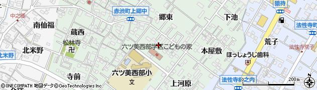 愛知県岡崎市赤渋町(道本)周辺の地図
