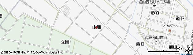 愛知県安城市堀内町(山畑)周辺の地図