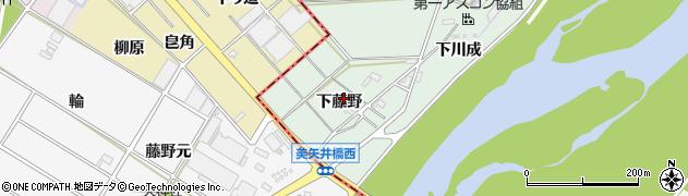 愛知県岡崎市下佐々木町下藤野周辺の地図