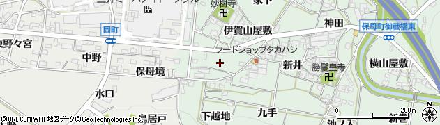 愛知県岡崎市保母町(野田)周辺の地図