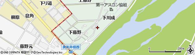 愛知県岡崎市下佐々木町下川成周辺の地図