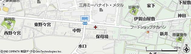 愛知県岡崎市岡町(北保母境)周辺の地図