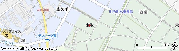 愛知県安城市桜井町(土取)周辺の地図