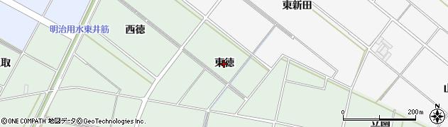 愛知県安城市桜井町(東徳)周辺の地図