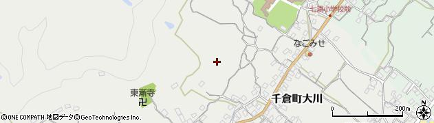 千葉県南房総市千倉町大川周辺の地図