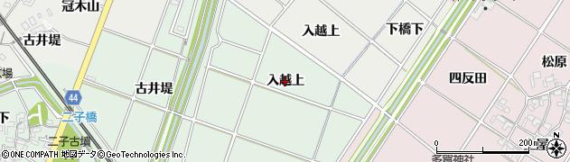 愛知県安城市桜井町(入越上)周辺の地図