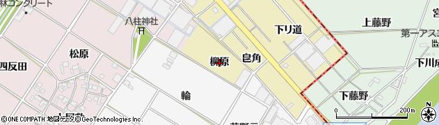 愛知県安城市河野町(柳原)周辺の地図