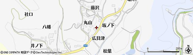 愛知県新城市須長(広貝津)周辺の地図