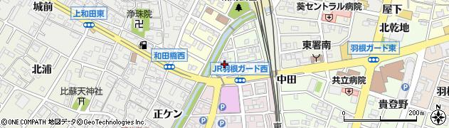 愛知県岡崎市羽根町(五反畑)周辺の地図