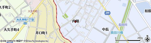 愛知県安城市榎前町(内畑)周辺の地図