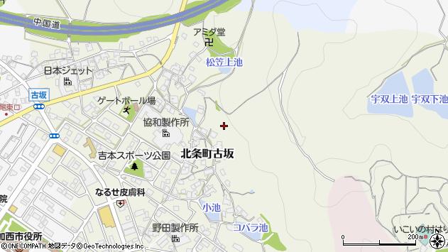 〒675-2303 兵庫県加西市北条町古坂の地図