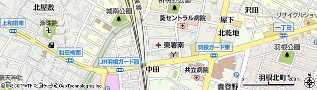 宅配クック123岡崎中央店周辺の地図