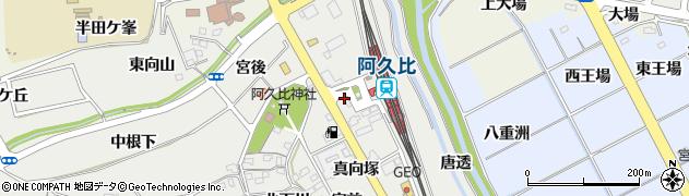愛知県知多郡阿久比町阿久比駅前1丁目周辺の地図