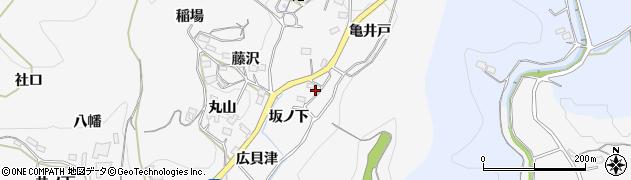 愛知県新城市須長(坂ノ下)周辺の地図